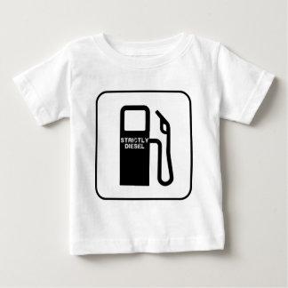 T-shirt diesel da criança do fã do caminhão
