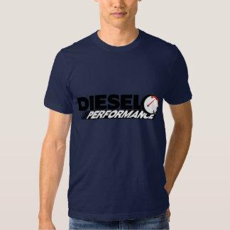 T-shirt diesel do desempenho