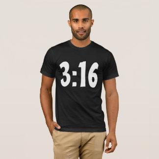 T-shirt do 3:16 de John, camisetas cristãs