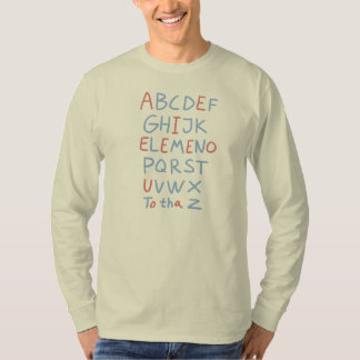 T-shirt do alfabeto