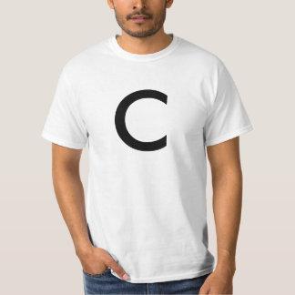"""T-shirt do alfabeto (""""C"""")"""