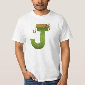T-shirt do alfabeto J do gato