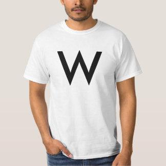 """T-shirt do alfabeto (""""W"""")"""