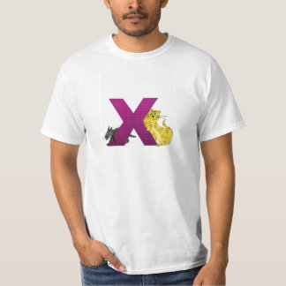 T-shirt do alfabeto X do gato