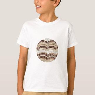 T-shirt do algodão dos miúdos bege do mosaico