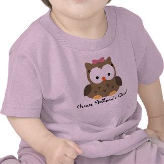 T-shirt do aniversário da coruja bonito do bebé