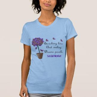 T-shirt do assistente social com citações camiseta