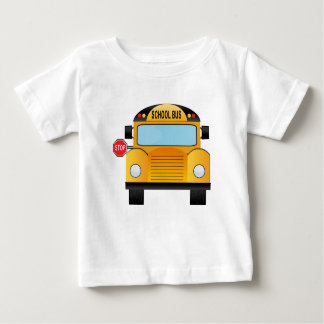 T-shirt do auto escolar do menino ou da menina camiseta para bebê