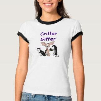 T-shirt do baby-sitter do animal de estimação