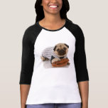 T-shirt do basebol do Pug
