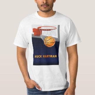 T-shirt do basquetebol de Hartman do Huck