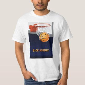 T-shirt do basquetebol de Schulz do pau