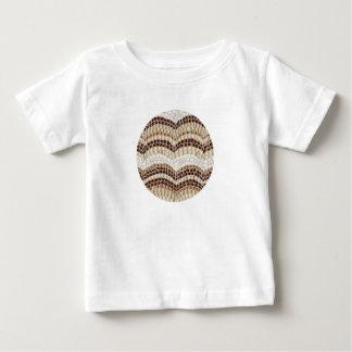T-shirt do bebê com mosaico bege