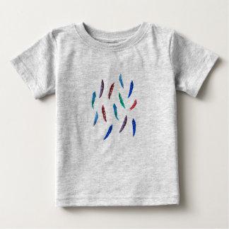 T-shirt do bebê com penas camiseta para bebê