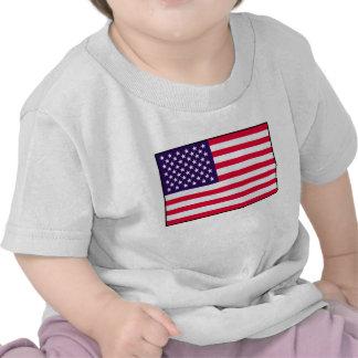 T-shirt do bebê da bandeira dos EUA