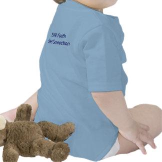 T-shirt do bebê da conexão do talento da juventude