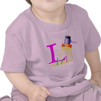T-shirt do bebê da lâmpada
