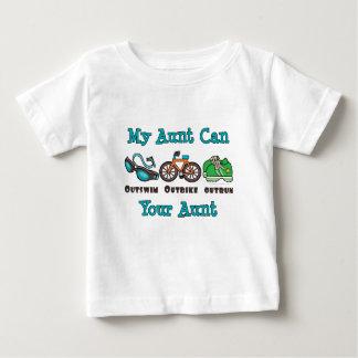T-shirt do bebê da tia Outswim Outbike Outrun