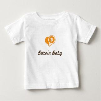 T-shirt do bebê de Bitcoin Camiseta Para Bebê