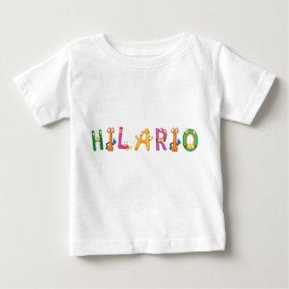 T-shirt do bebê de Hilario Camiseta Para Bebê