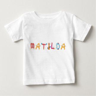 T-shirt do bebê de Matilda Camiseta Para Bebê