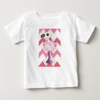 T-shirt do bebê do cocktail do flamingo camiseta para bebê