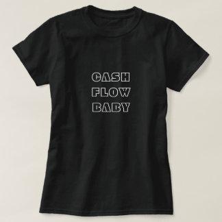 T-shirt do bebê do fluxo de caixa camiseta