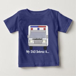 T-shirt do bebé do motorista da ambulância do pai camiseta para bebê