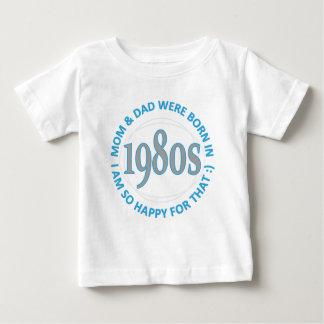 t-shirt do bebê dos anos 80
