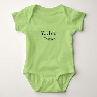 T-shirt do bebê dos obrigados body para bebê