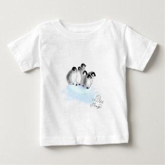 T-shirt do bebê dos pinguins do bebê camiseta para bebê