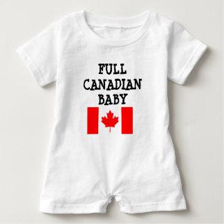 T-shirt do bebê que diz o bebê canadense completo macacão para bebê
