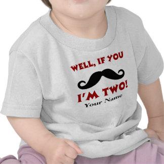 T-shirt do bigode do segundo aniversário