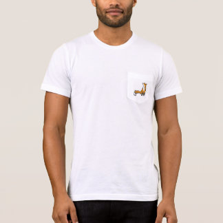 T-shirt do bolso do Fox Camiseta