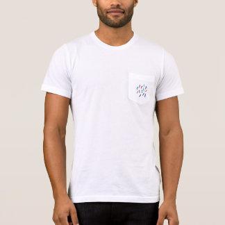 T-shirt do bolso dos homens com penas camiseta