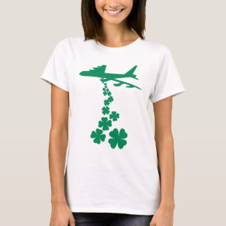 T-shirt do bombardeiro da paz do trevo camiseta