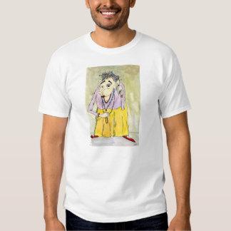 T-shirt do branco do empacotador de Quintara
