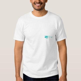 T-shirt do branco do helicóptero do zangão de DIY