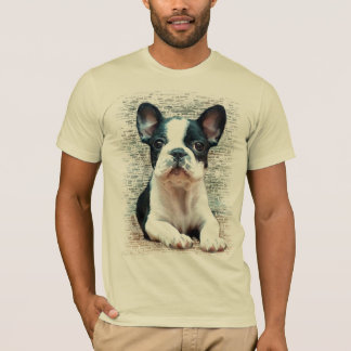 T-shirt do buldogue francês camiseta