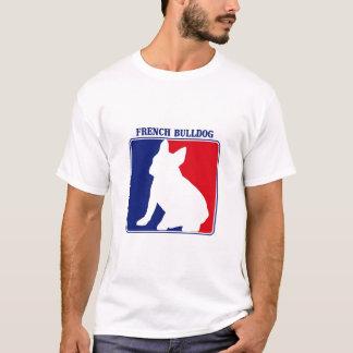 T-shirt do buldogue francês de liga principal