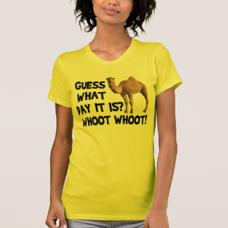 T-shirt do camelo do dia de corcunda camiseta