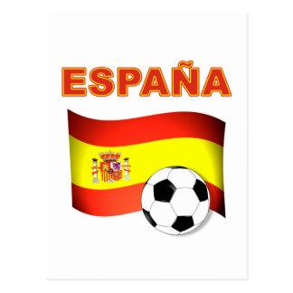 T-shirt do campeonato do mundo de Espana Cartão Postal