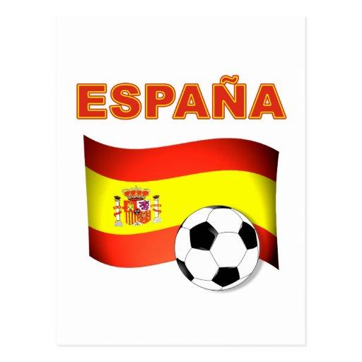 T-shirt do campeonato do mundo de Espana Cartões Postais
