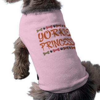 T-shirt do cão da princesa yorkshire terrier de Yo Camisa Sem Mangas Para Cachorro