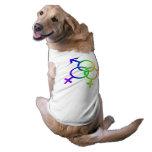 T-shirt do cão do amor LGBT do arco-íris da camise Camisa Sem Mangas Para Cachorro
