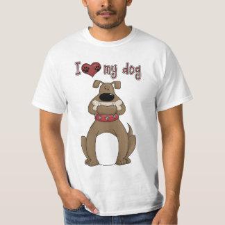 T-shirt do cão do divertimento do tema do animal
