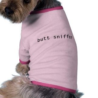 T-shirt do cão do tubo aspirador do bumbum