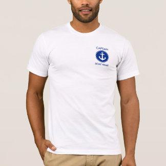 T-shirt do capitão Náutico Azul Âncora Camiseta