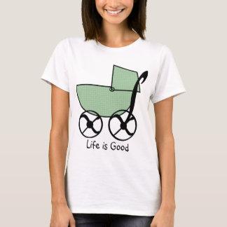 T-shirt do carrinho de bebê camiseta