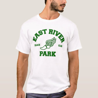 T-shirt do clube da trilha do parque de East River Camiseta